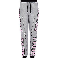 Girls pink NYC print Joggers