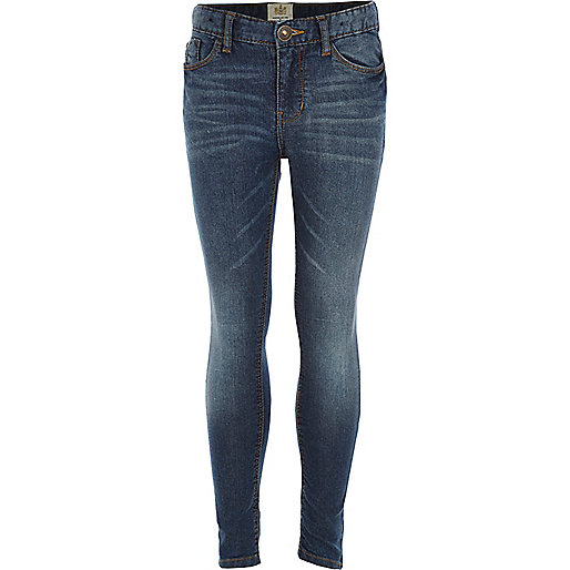 Girls medium wash denim jeans
