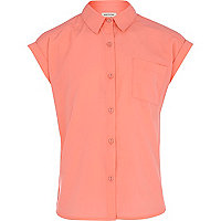 Girls coral boxy shirt