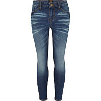 Girls dark denim skinny jeans