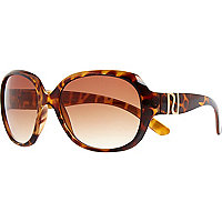 Girls brown tortoise shell glam sunglasses