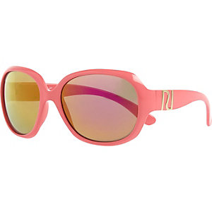 Girls coral glam sunglasses