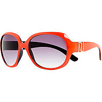 Girls orange neon glam sunglasses