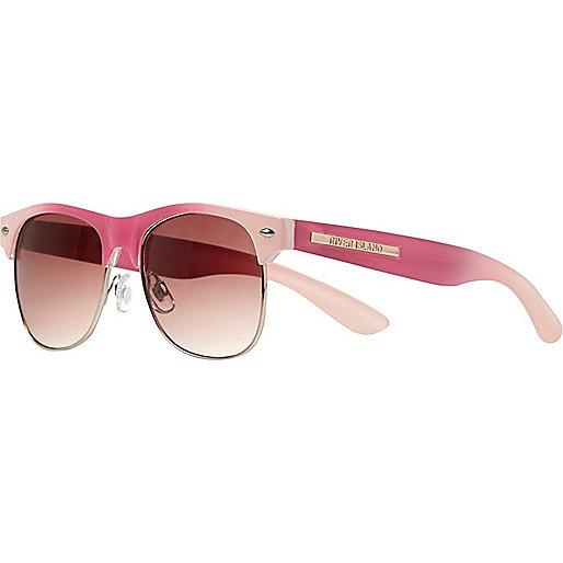 Girls coral retro sunglasses