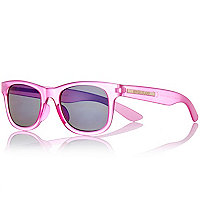 Girls pink retro sunglasses