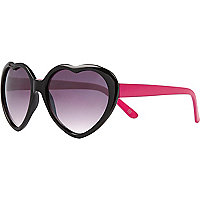 Girls black heart sunglasses
