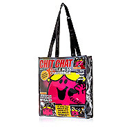 Girls black Little Miss Chatterbox bag