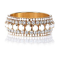 Girls white embellished bracelet