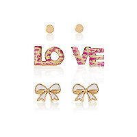 Girls love 3 pack earring