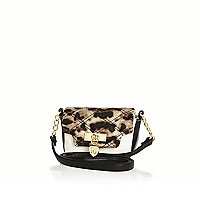 Girls leopard print crossbody bag