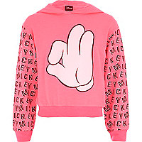 Girls pink Mickey hands print sweatshirt