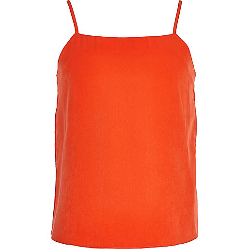 Girls orange cami