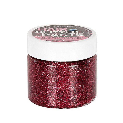 Girls pink hair glitter paste