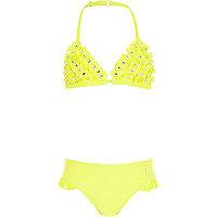 Girls yellow bow bikini