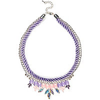 Girls purple statement necklace
