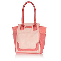 Girls pink shopper bag