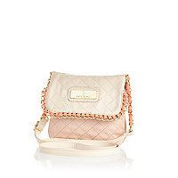 Girls cream chain messenger bag