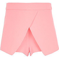 Girls pink crepe skort