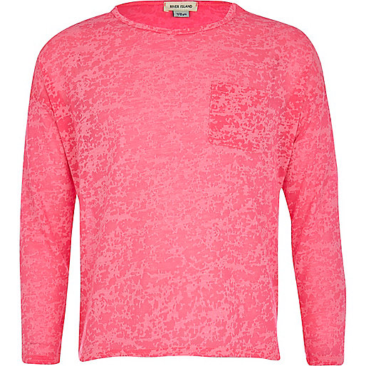 Girls pink burnout t-shirt