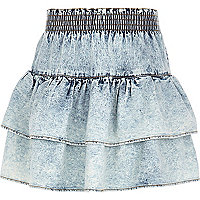 Girls acid wash rara skirt