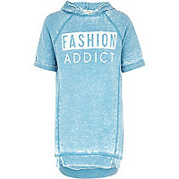 Girls blue burnout fashion addict dress
