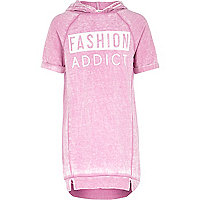 Girls pink burnout fashion addict dress