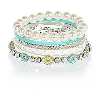 Girls blue bangle pack
