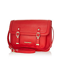 Girls red satchel
