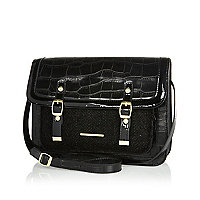 Girls black satchel