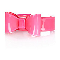 Girls pink bow bracelet