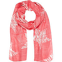 Girls pink star print scarf