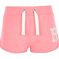 Girls pink runner shorts