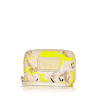 Girls yellow floral coin purse