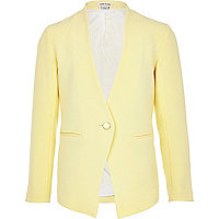 Girls yellow vintage crepe blazer