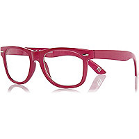 Girls pink retro geek glasses