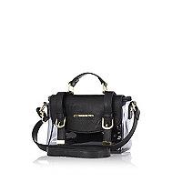 Girls black jelly satchel