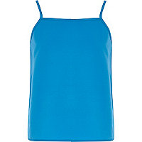 Girls blue cami vest