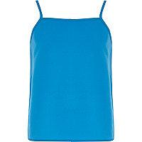 Girls blue cami vest