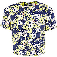 Girls yellow daisy print top