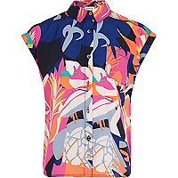 Girls tropical print shirt