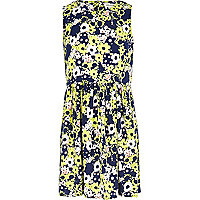Girls yellow daisy print dress