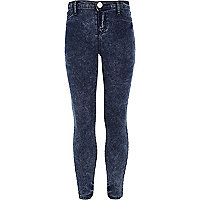 Girls dark wash denim jeggings
