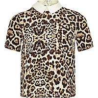 Girls leopard print shirt