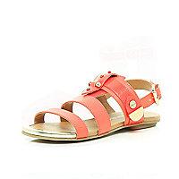 Girls pink bolt sandals