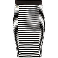 Girls mono stripe tube skirt