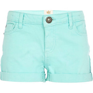 Girls blue denim shorts