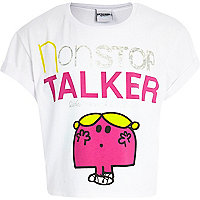Girls white Miss Chatterbox print t-shirt