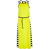 Girls yellow maxi dress