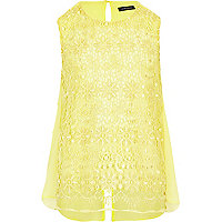 Girls yellow lace top