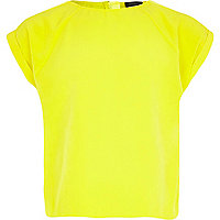 Girls bright yellow box top